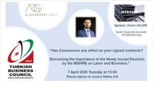 Has coronovirus effect on your contracts?