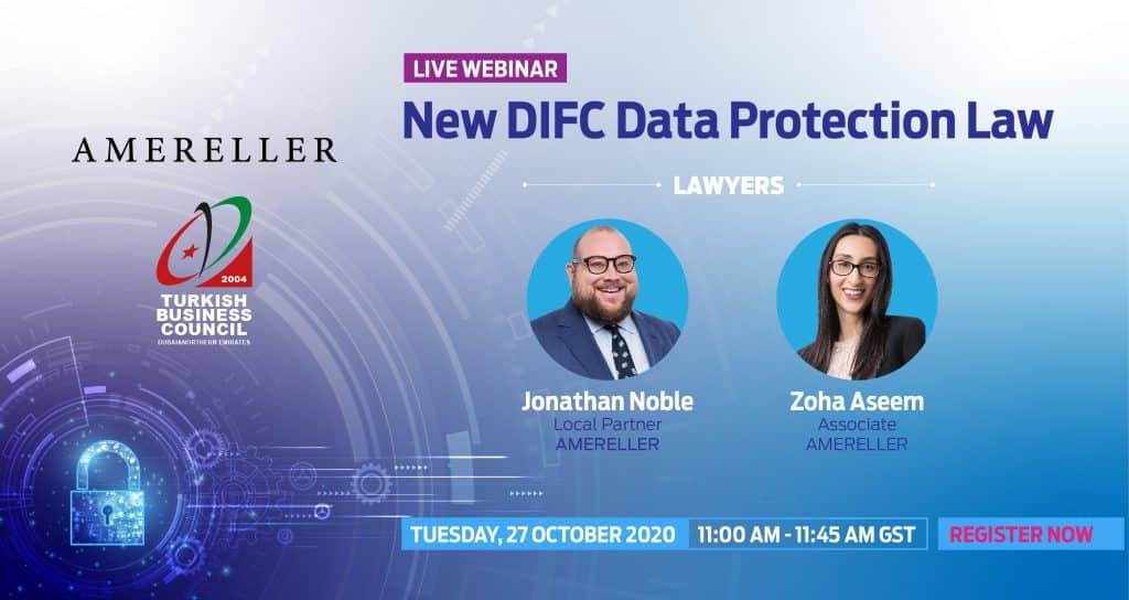 New DIFC Data Protection Law by Amereller Law