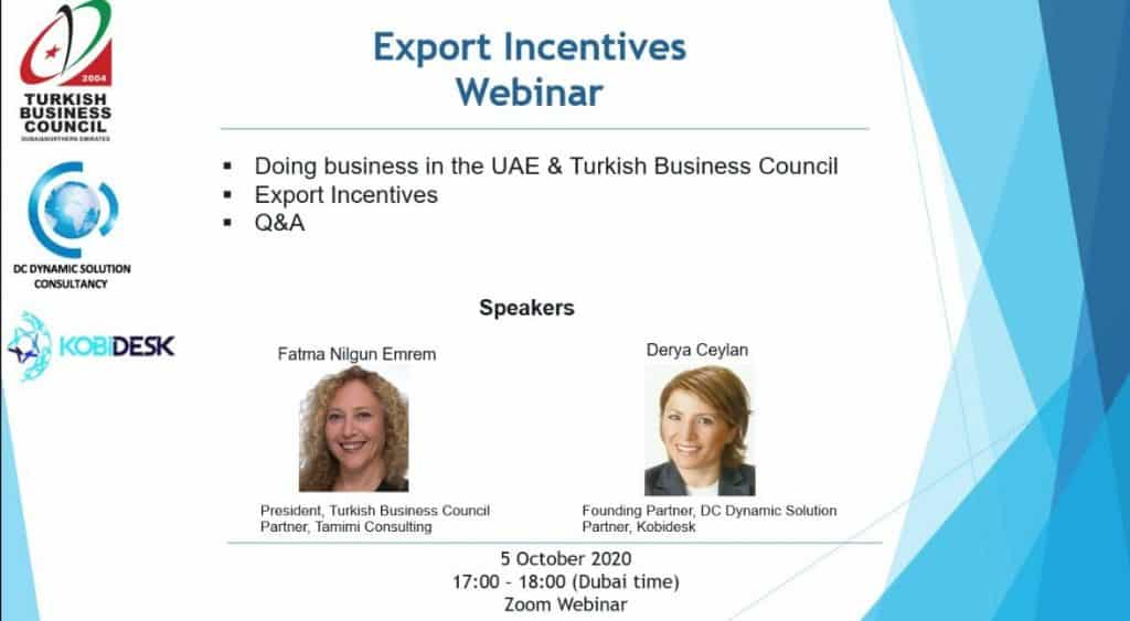 Export Incentives Webinar with Kobidesk