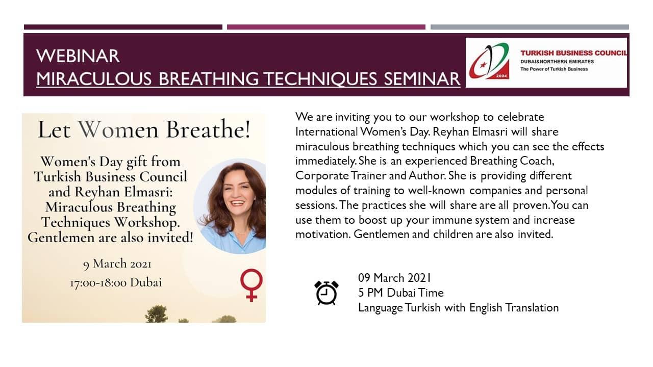 Miraculous Breathing Techniques Seminar