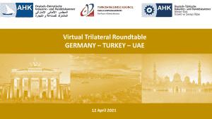 Virtual Trilateral Roundtable Germany, Turkey, UAE
